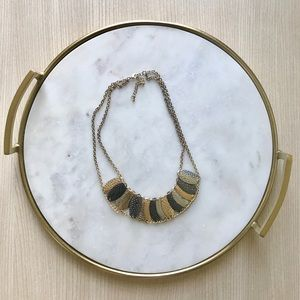 Silver Black and Gold Chain Style Necklace